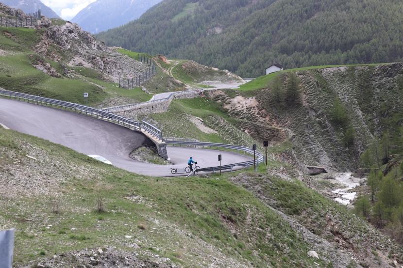 1000 km atteints, le col de Larche et l'Italie!