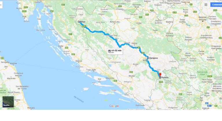 Bosnie trajet